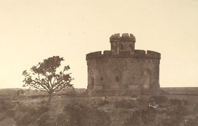 Flagstaff Tower where European survivors of the Rebellion of 1857 gathered on May 11, 1857