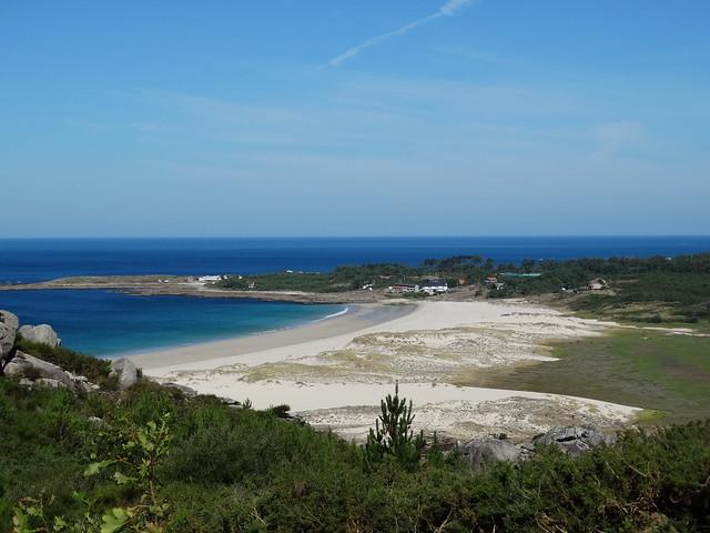 Playa de Area Maior en Louro concello de Muros