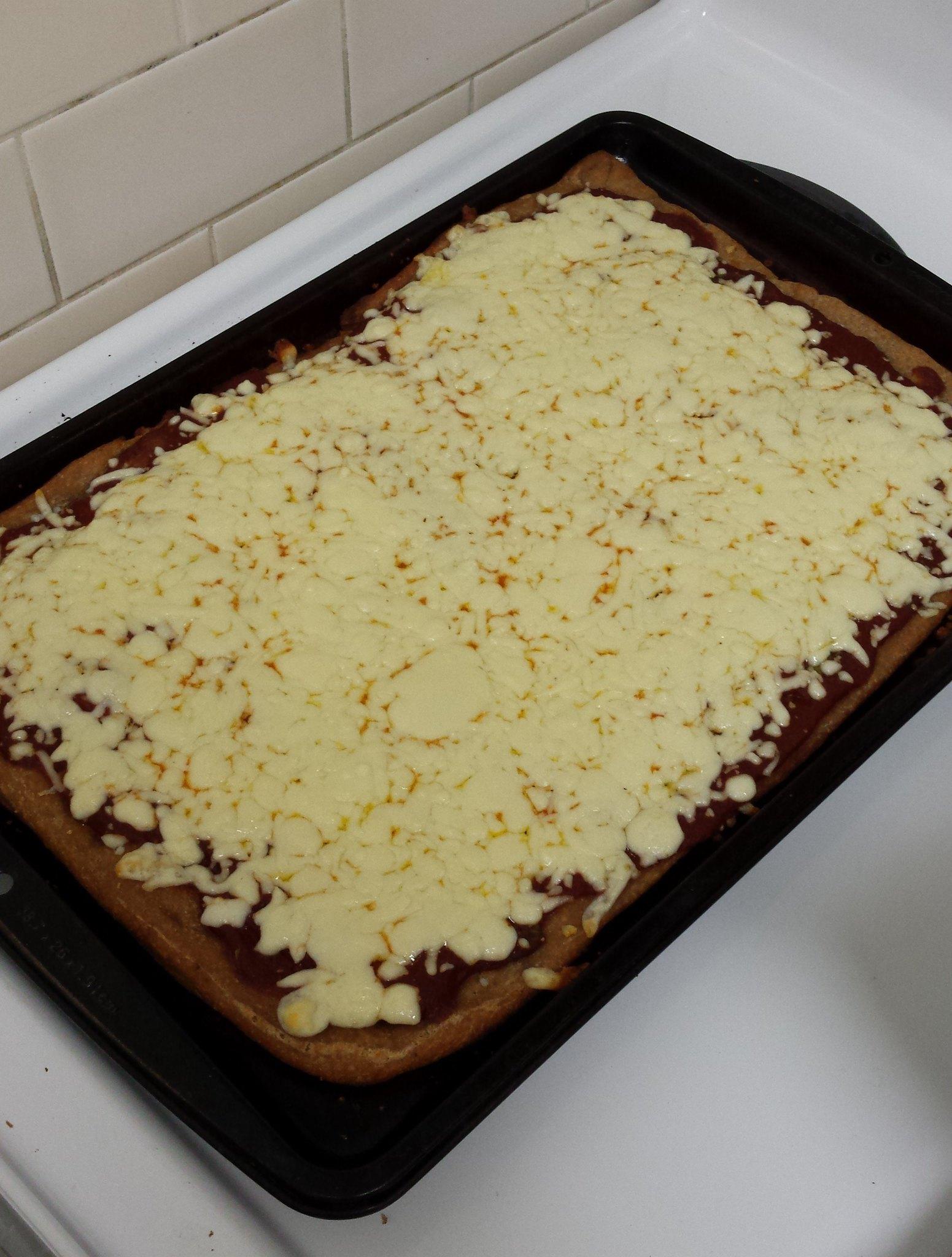 Cheesy Sourdough Pizza