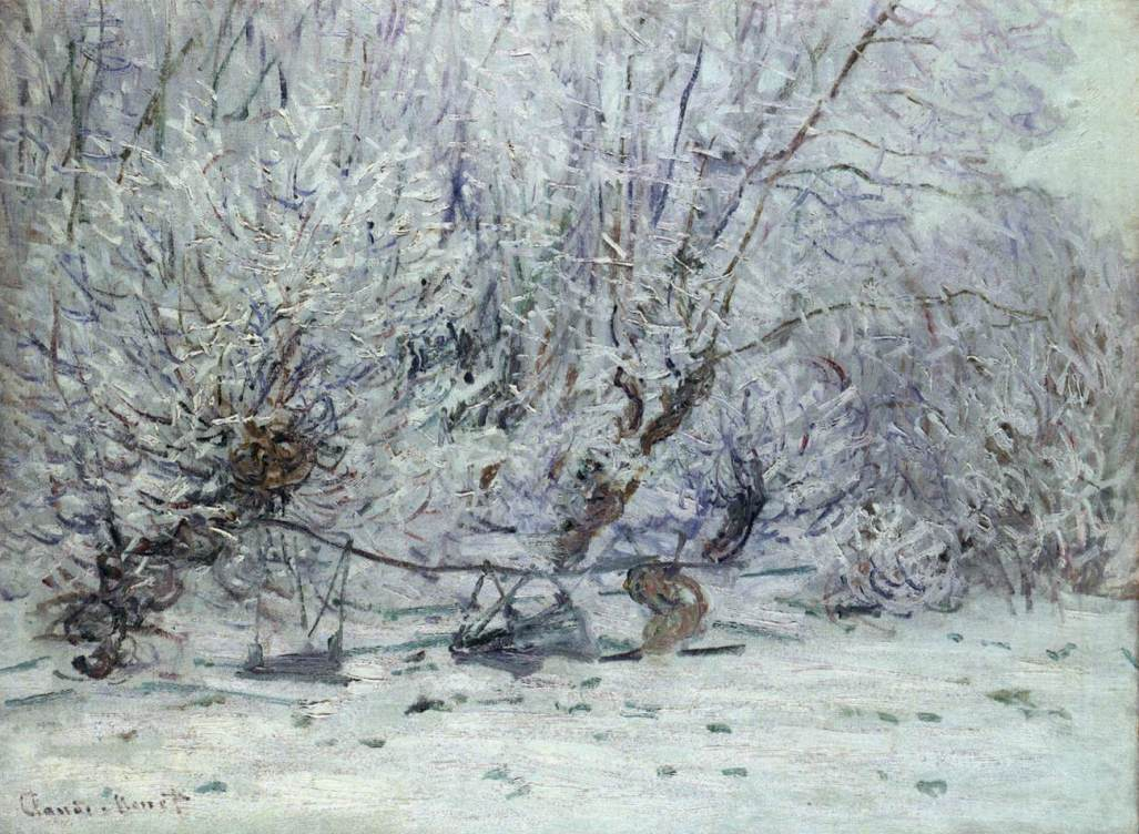 Frost by Claude Oscar Monet - 1885