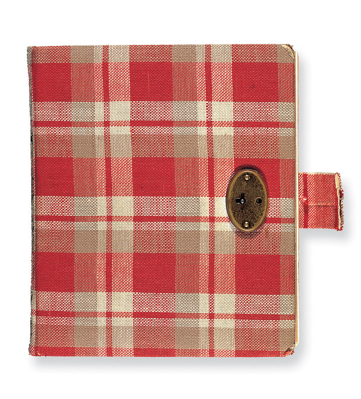 The original red chequered diary of Anne Frank