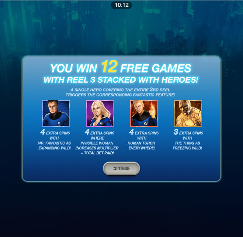 free Fantastic Four Mobile bonus game