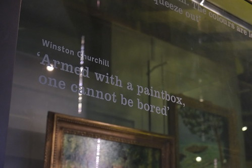 """Armed with a paintbox, one cannot be bored"""