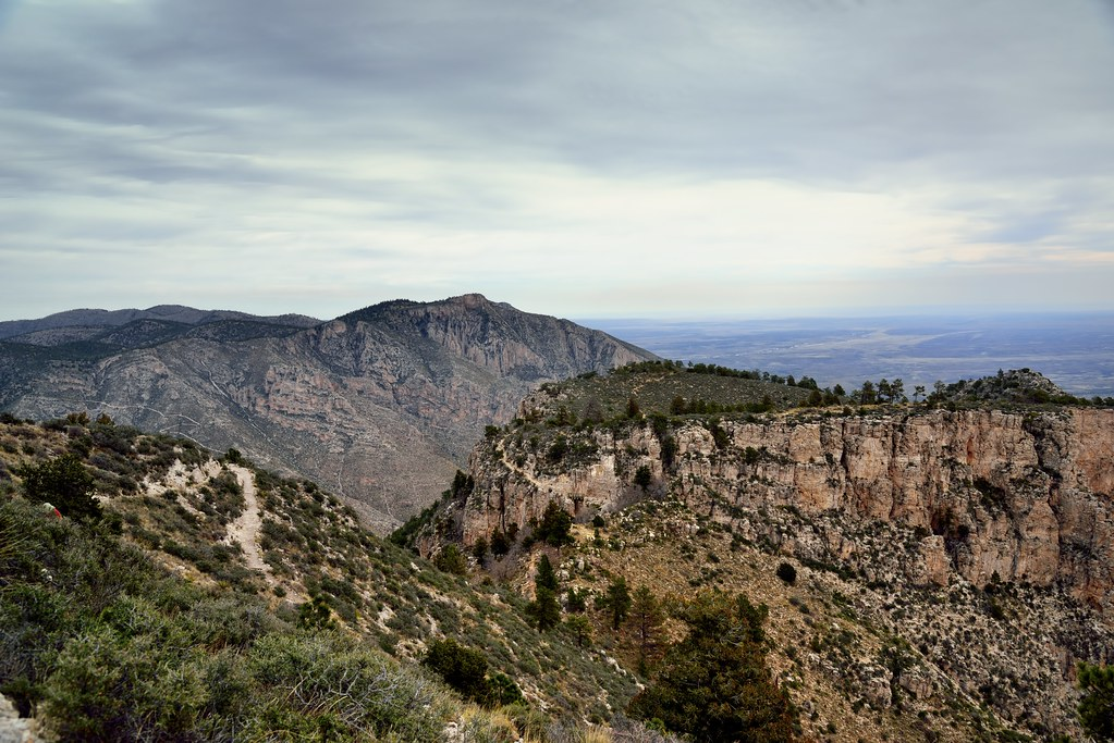 Peaks and Hillsides in Guadalupe Mountains National Park