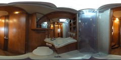 Bathroom in the mobile home