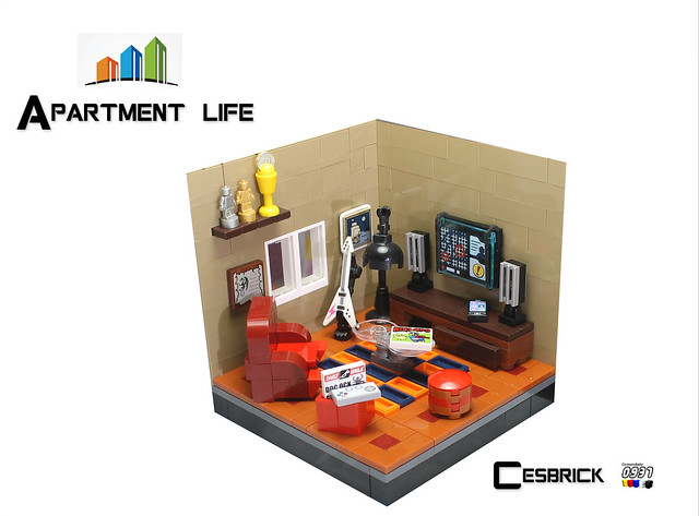 LEGO Apartment life - TV room