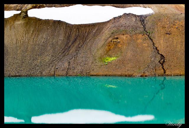 Fotografías del cráter Víti en volcán Krafla