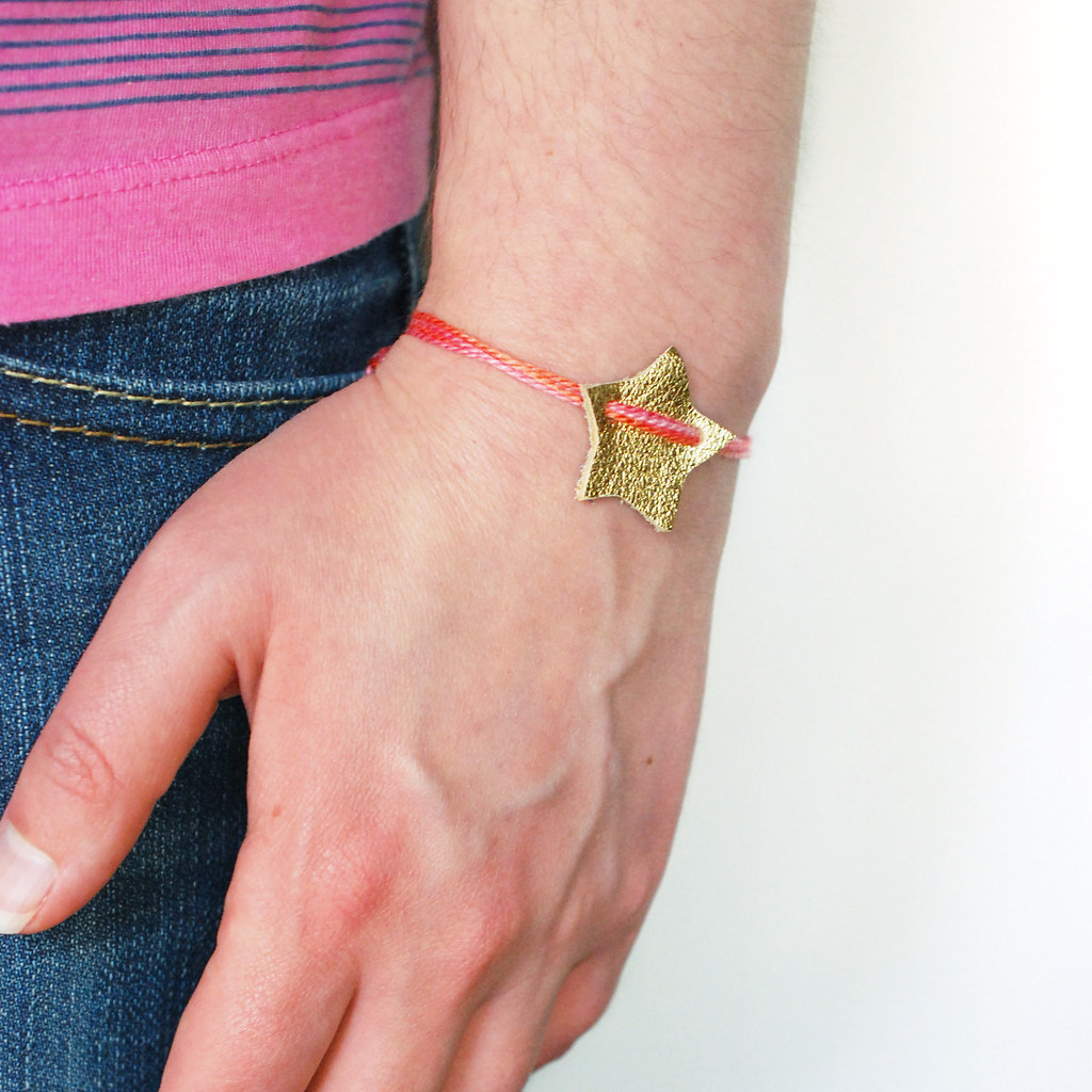 Wish On A Star Leather Bracelet