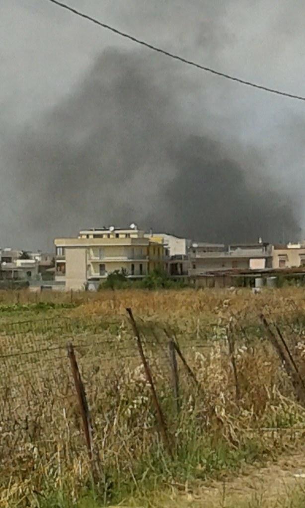 Rutigliano- Incendio in Via Mola  il terzo nel mese di Luglio