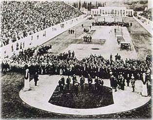 The opening ceremony of the 1896 Summer Olympics