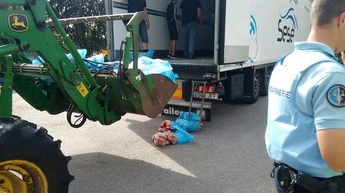 Ataque a un camión con carne española en Normandía