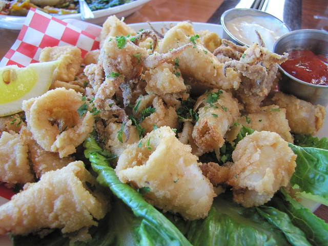 Fried calamari at Abalonetti Bar & Grill