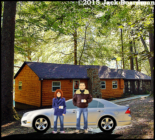 Sarah and Jay arrived at the Elk River cabin