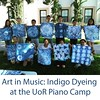 I'm teaching a music in at class this week at piano camp. We did Indigo on Monday they were happy with the results. #indigodyeing