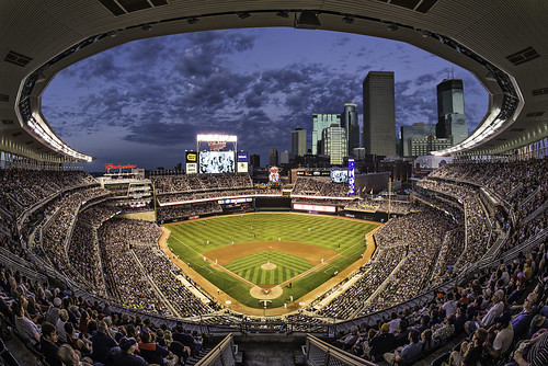 city sunset usa game sports minnesota sport skyline architecture team twins downtown cityscape play baseball outdoor stadium minneapolis wideangle architectural fisheye professional arena event american mn ballpark minnesotatwins majorleaguebaseball majorleague targetfield