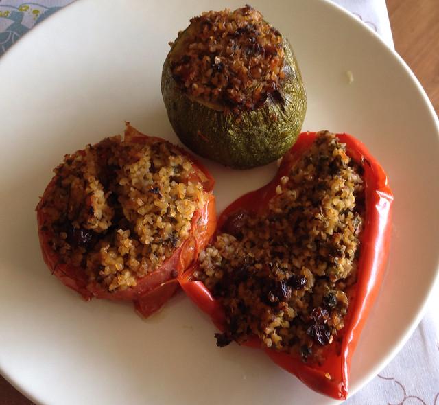 Légumes farcis au boulgour