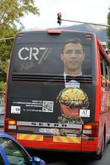 281-20160317_Funchal-Madeira-Estrada Monumental-public transport bus with advert for Cristiano Ronaldo Musem