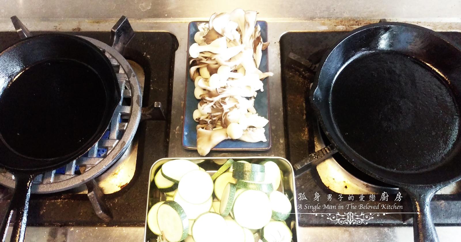 孤身廚房-清冰箱簡單早午餐!培根野菇櫛瓜義式烘蛋Frittata5