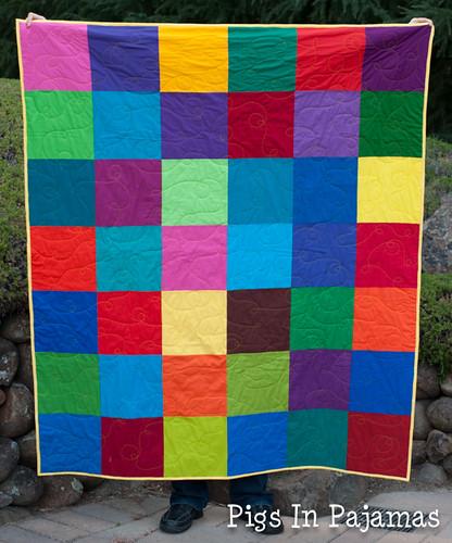 Bright squares quilt