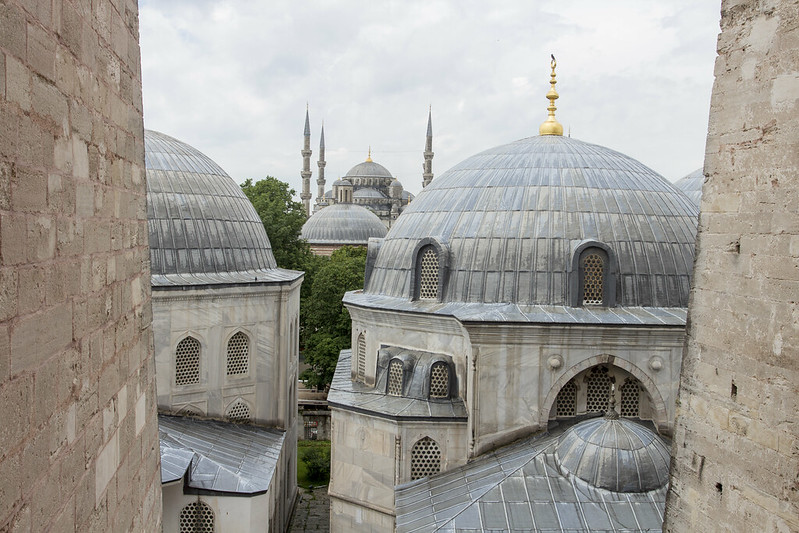 Blue Mosque - view form Hagia Sophia in Istanbul