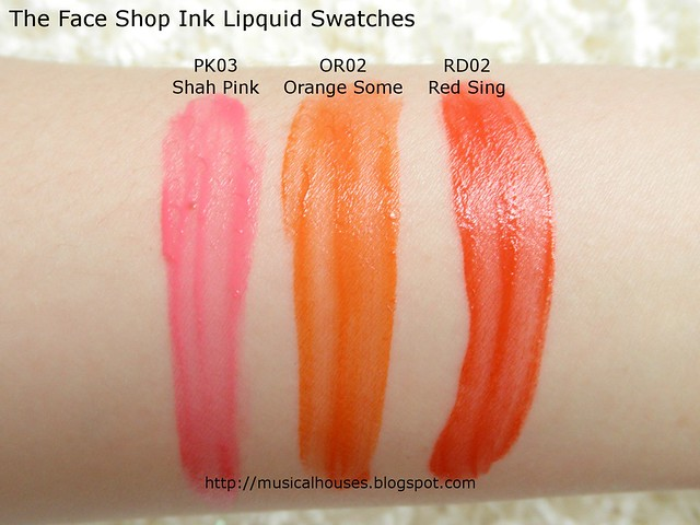 The Face Shop Ink Lipquid Swatches