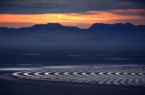 sunset sky night clouds mirror solar energy raw desert cloudy dusk nevada powerplant hdr tonopah solarpower solarenergy 2xp photomatix fav200 thermalpower nex6 sel55210