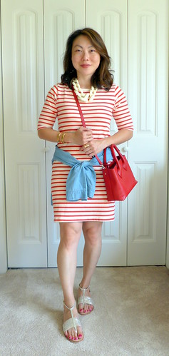 striped dress 3-ways