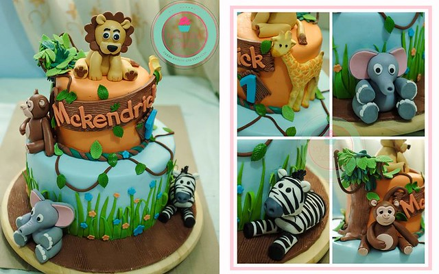 Safari Theme Cake by Donna Lou of My Baking Corner