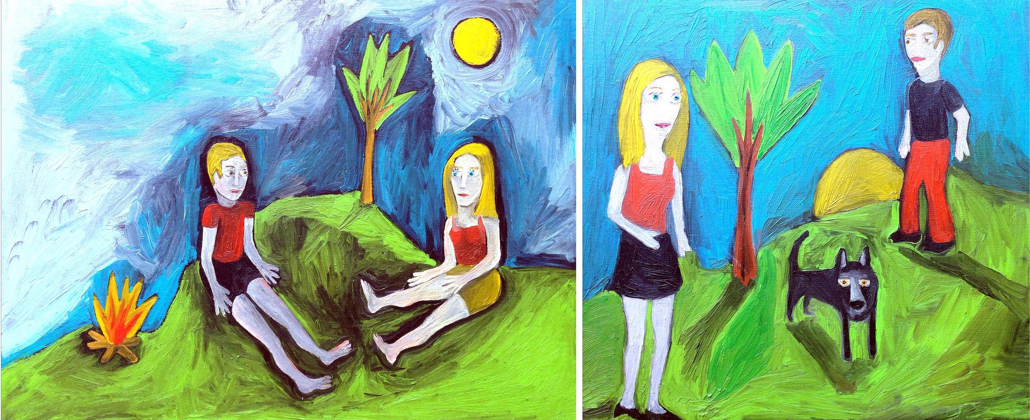 Adamo ed Eva Fuoco e Lupo