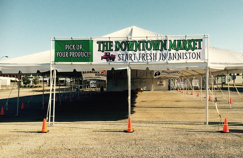 Anniston Downtown Farmers Market sign