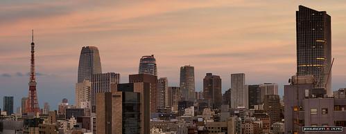 sunset tower skyline buildings atardecer tokyo edificios nikon torre skyscrapers japon shimbashi shiodome rascacielos jesuscm