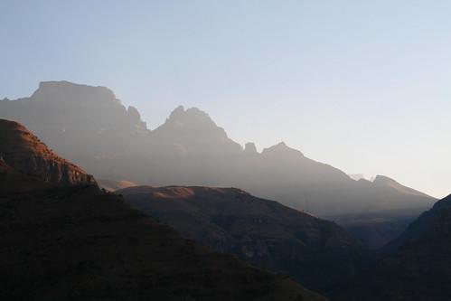 Dusk in the Drakensberg