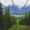 Gondola ride to the top of the Lake Louise ski area.