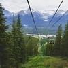 Gondola ride to the top of the Lake Louise ski area.