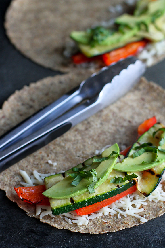 Grilled Quesadillas with Avocado, Zucchini & Basil Recipe ...