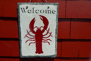 Maine - Kittery Chauncey Creek Lobster Pier sign 2