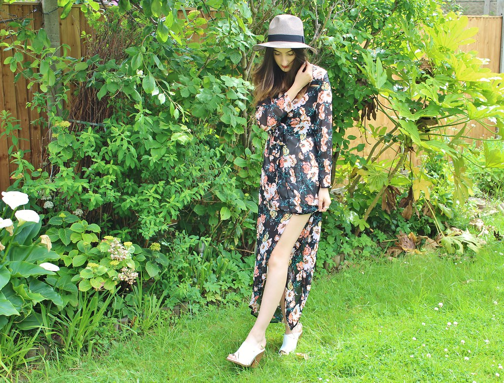 FLORAL MAXI OOTD