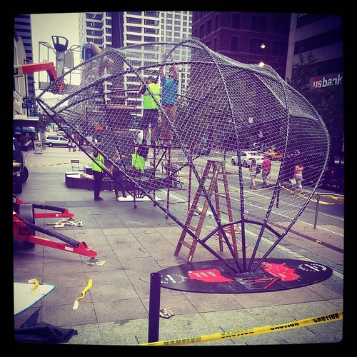 So this thing was getting constructed  @myfountainsquare. #WhatCouldItBe?