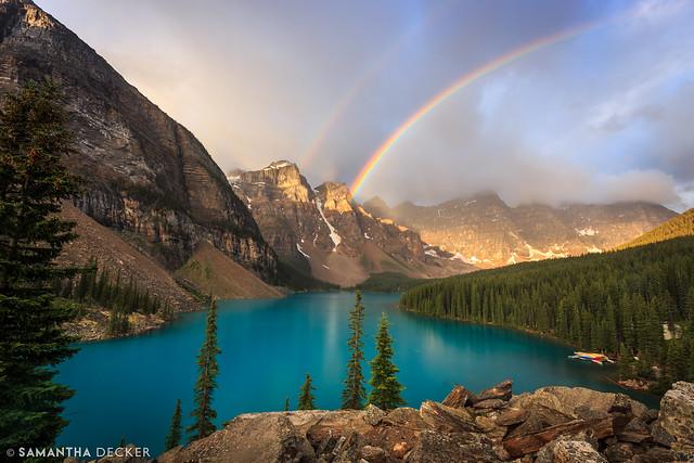 A Rainbow Over Moraine Lake