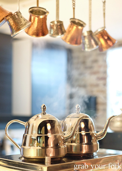 Boiling kettles at Hakiki Turkish Ice Cream, Newtown