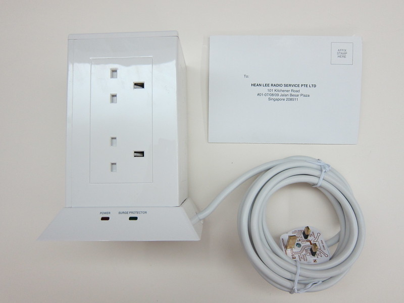 SoundTeoh Tower Socket With 9 Outlets - Box Contents