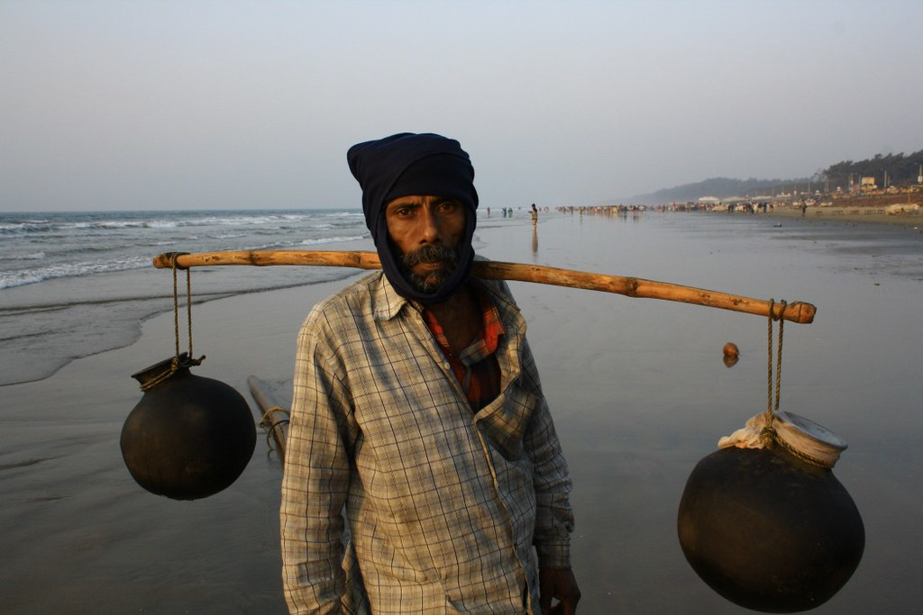 Date Juice Seller at Digha Sea Beach - West Bengal, India