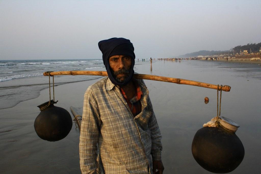 Date Juice Seller at Digha Sea Beach - West Bengal, India
