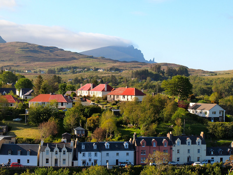 View from the Portree watch tower on the Isle of Skye