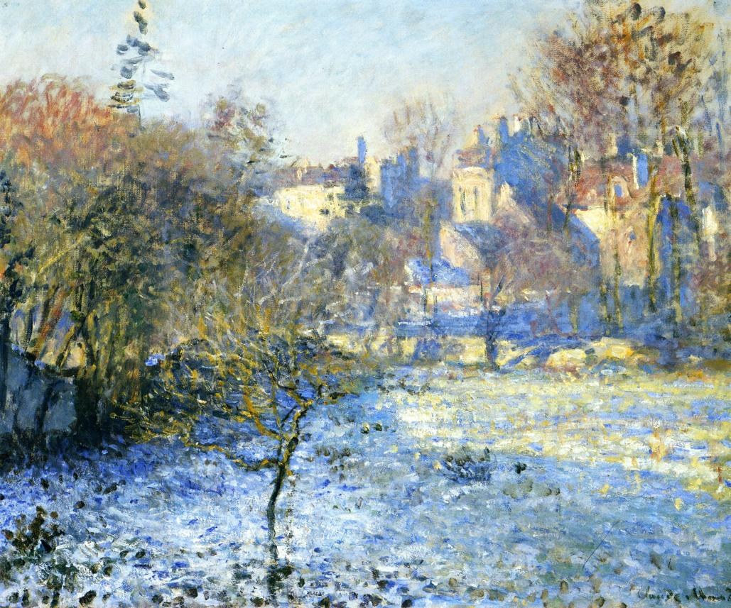 Frost by Claude Oscar Monet - 1875
