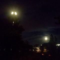 Clocktower and moon