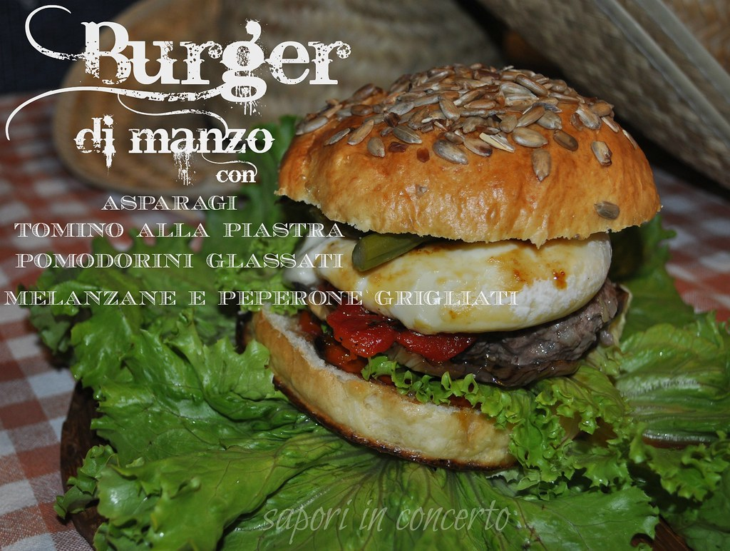 Sapori in concerto: Burger di manzo con asparagi, tomino alla ...
