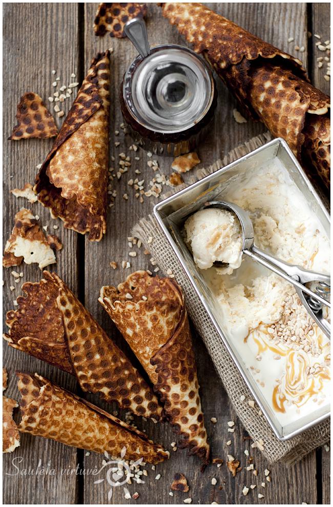 Naminiai ledai traškiuose vafliuose (3)