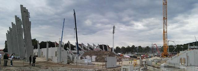 Die Baustelle des Allianz Stadions
