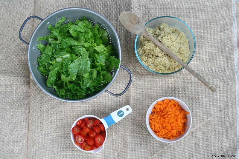 Garden Veggie Quinoa Salad Ingredients
